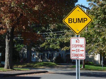 Road Sign, Street, Bump, Key West, Florida, Warning