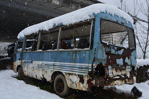 Winter, In Rural Areas, Quiet, Waste, Automotive