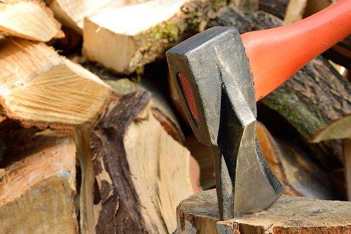 Ax, Wood, Hacking, Lumberjack, Fuel, Edge, Wedge