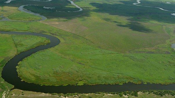 Botswana, Africa, Okavango Delta, Aerial View