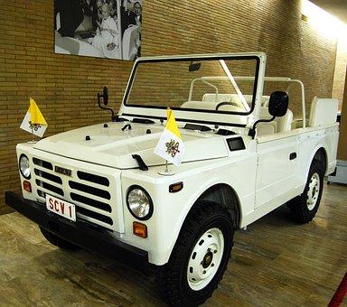 Popemobile, Auto, Pope, Attack, Vatican, Ancient, Old