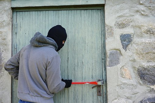 Thief, Burglary, Break Into, Balaclava, Crowbar