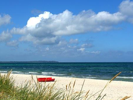 Boat, Beach, Sea, Fishing Boat, Water, Lake, Bank