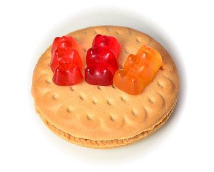Biscuit, Gummibärchen, Sweet, Nibble, Gummi Bears