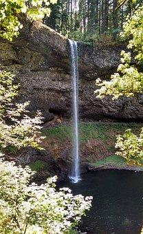 Silver Creek Falls, Oregon, Waterfall, Cascade, Water