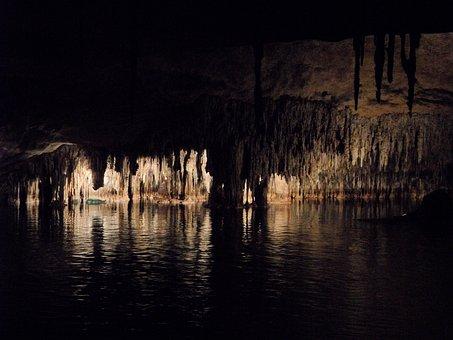Cave, Dragon's Lair, Mallorca, Stalagmites, Speleothems