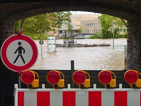 High Water, Locked, Damage, Flood Damage, Destruction