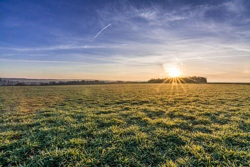 Landscape, Field, Nature, Agriculture, Frost, Winter