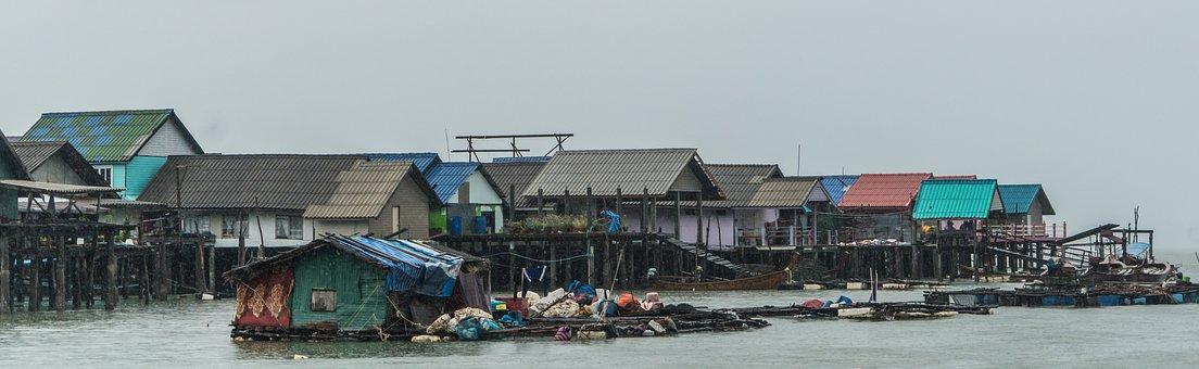 Koh Panyee Island, Floating Fishing Village, Thailand
