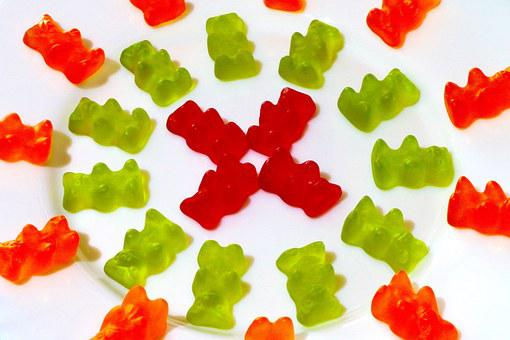 In The Circle, Gummi Bears, Fruit Jelly, Pattern, Color