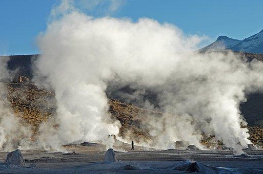 Chile, Andes, Geyser, Water Vapor, Geothermal Energy