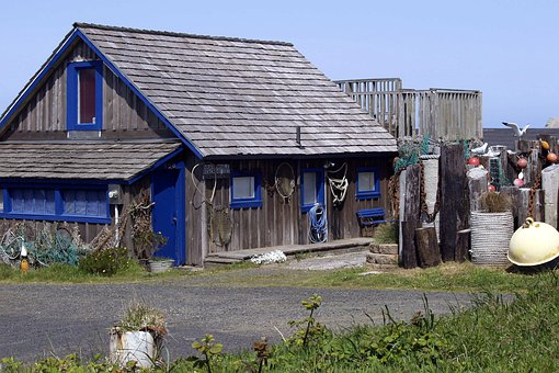 House, Building, Fishing Equipment, Fishing Gear, Home