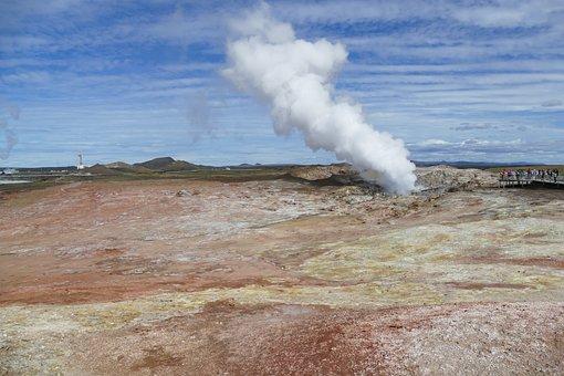 Iceland, Reykjanes, Nature, Geothermal Energy, Steam