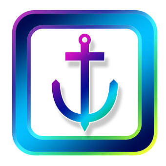 Icon, Anchor, Containing, Fixing, Symbols, Online