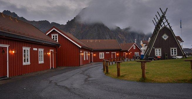 Dusk, Lofoten, Svolvaer, Svolvær, Norway, Islands