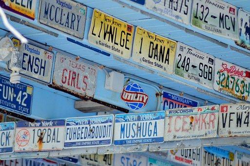 Registration Plates, Car Plates, Deco, West Indies