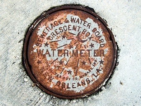 Metal, Manhole, Cover, Rusted, New Orleans, Grunge