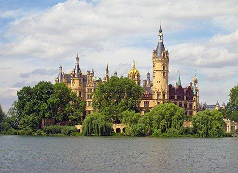 Schwerin Castle, Lake, Schwerin, Lap, Summer