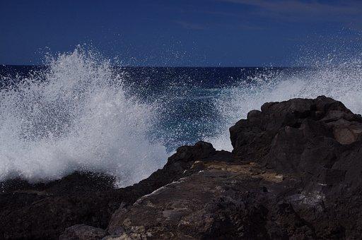 Water, Sea, Surf, Spray, Coast, Wave, Sea Water