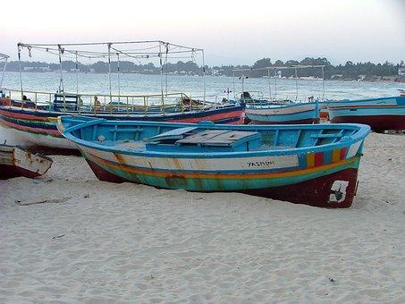 Tunisia, Fisherman, Sea, Fishing, Water, Boat, Marin