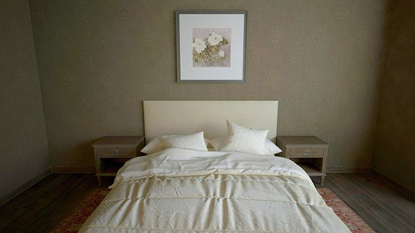 Bed, Room, Bedroom, Decoration, Wall, Apartment, Design