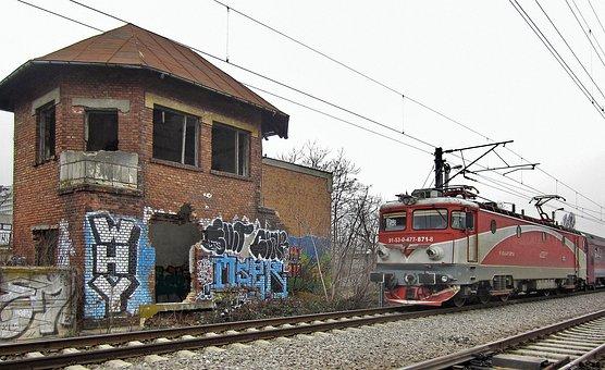 Old Railway Station, Abandoned, Ruins, Train