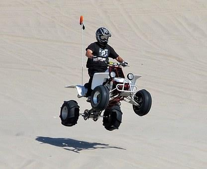 Quad, Atv, Bike, Sport, Riding, Jump, Sand, Dunes