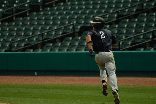 Baseball, Running Bases, Ball Player