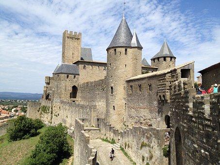 Carcassonne, Medieval, Castle, City, Medieval Castle