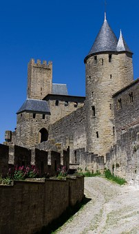 Carcassonne, France, Castle, Calm, Medieval