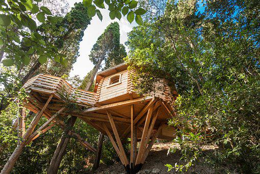 Cabins In The Woods, Carcassonne, Nature, Unusual