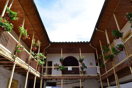 Colombia, Retro, Vintage, Balcony, Old, Flowers