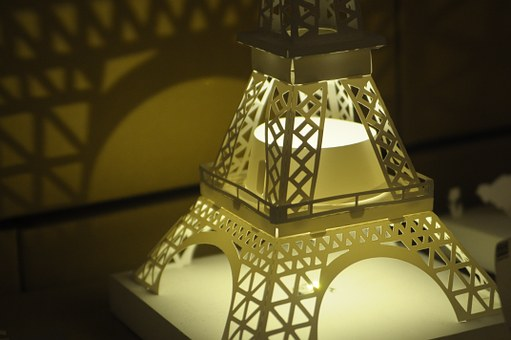 Lamp, Eiffel Tower, Preliminary Design Model, Scene