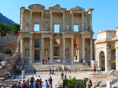 Celsus Library, Ruins, Ephesus, Ionia, Ancient Times