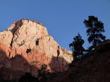 Zion National Park, Utah, Usa, Erosion, Hot, Dry