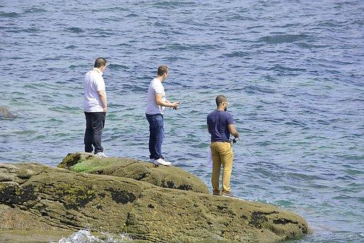 Fishing, Fishermen, Friends, Buddies, Water, Men