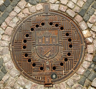 Sewerage, Hatch, Prague, Street, Metal, Hole, Industry
