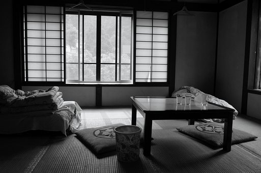Room, Bed And Breakfast, Japan, Futon, Tatami Mats