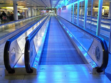 Inlet Place, Moving Walkway, Roller Platform, Handrails