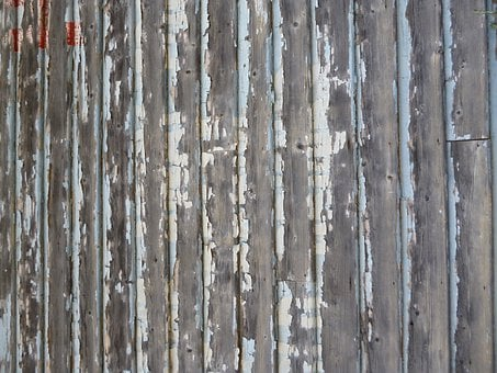 Wall, Old, Unpainted, Wooden, Wood, Chipped, Distressed