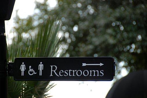 Sign, Bathroom, Restroom, Symbol, Icon, People