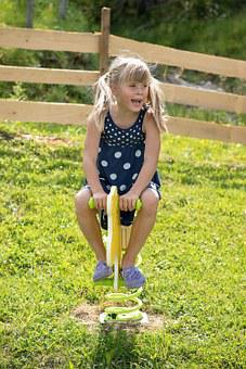 Person, Human, Child, Girl, Blond, See Saw, Playground