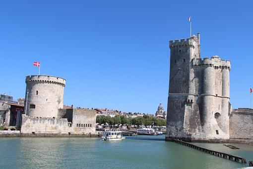 La Rochelle, Harbour, Tower, France, Port, Fortified