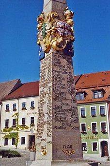 Stolpen, Thuringia Germany, Post Mile Column, 1728