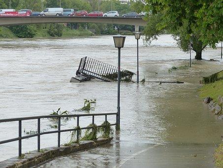 High Water, Road, Locked, Damage, Flood Damage