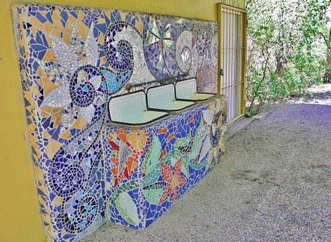 Bathroom Sink, Mosaic, Sanitary, Equipment, Cinema