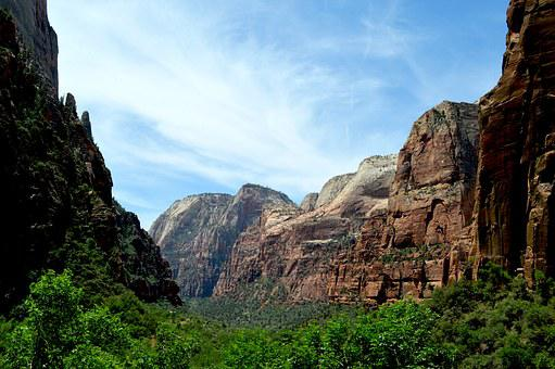 Zion, Sky, Utah, National, Park, Stone, Scenic