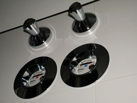 Water Clock, Bad, Fittings, Shiny, Bright, Silver