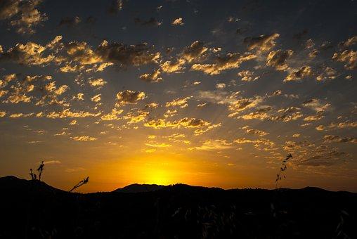 Dawn, Sun, Nuebes, Sunset, Landscape, Horizon, Sky