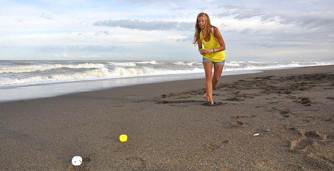 Girl, Beach, Play, Sokieba, Entertainment Game